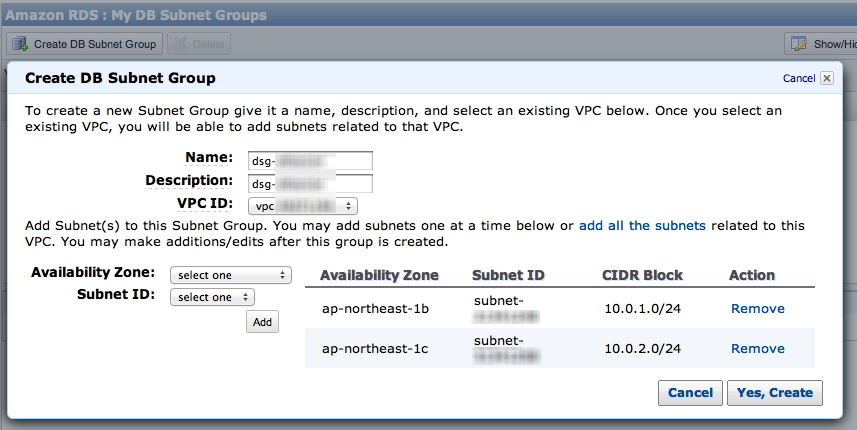 create-db-subnet-group