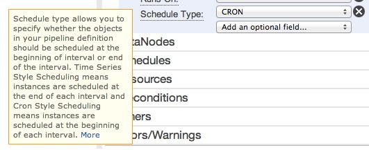aws-datapipeline-optional-field-14-schedule-type