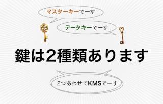 KMSの文脈では、鍵は2種類あります