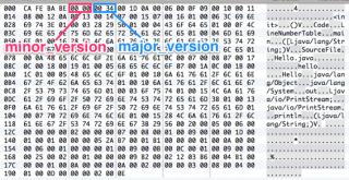 バイナリエディタでminor_versionとmajor_versionを確認する