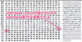 バイナリエディタでinterfaces_countを見る