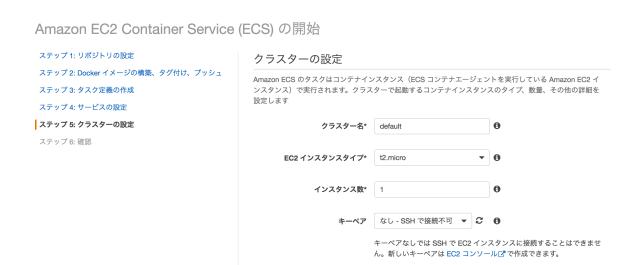 ECSコンソールチュートリアル8