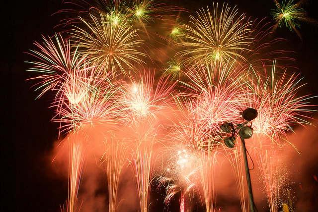 小樽うしお祭りの花火